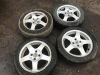 "honda civic 4x100 alloys 15"" with tyres"