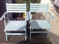 two garden foldup chairs