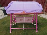Toddler swing two seater canopy