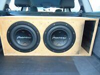 2x pioneer 3000watt subs 6000watt max 2000 watt rms !!!!!!!!