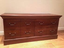 4 Drawer Chest of Drawers GENUINE WOOD mahogony colour