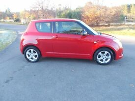 2008 08 SUZUKI SWIFT 1.3 GL 3 DOOR BRIGHT RED