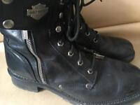 Pair of Harley Davidson bike boots