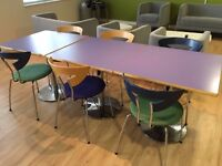 CANTEEN TABLES AND CHAIRS AND STOOLS
