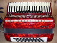 Baile, 120 Bass, 4 Voice, Musette Tuned, Piano Accordion.