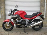 Moto Guzzi 1100 Breva, 2007, red, only 2,606 miles.