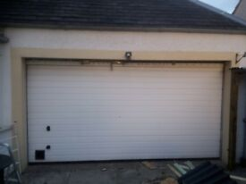 White roller garage door with all fittings