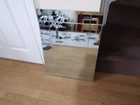 Large Frame Less Mirror