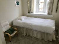 Divan bed base with mattress 90x180 (£25 – Walton-on-Thames)