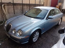 2003 S TYPE JAGUAR 4.2 V8, FULL LEATHER, YEARS MOT AND 11 STAMPS IN THE SERVICE BOOK