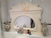 Gorgeous shabby chic or country house ornate large overmantle mirror