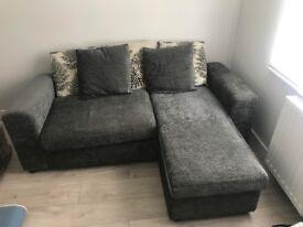 3 seater grey L shape reversible sofa