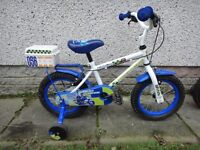 Boys bikes suit age 3 to 5 years, 14 inch wheels, with stabilisers