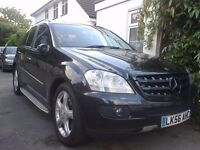 4x4 56-REG 2006 MERCEDES BENZ ML 280 CDI AUTO,4WD BLACK 7G-TRONIC VERY CLEAN BARGAIN