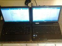2 x toshiba , laptop