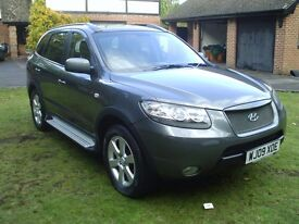 HYUNDAI SANTA FE 2009 7 SEATS 1 OWNER FULL SERVICE HISTORY 9 STAMPS MOT MARCH NO ADVICES
