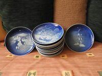 """16 x 7"""" Christmas Plates, Bing & Grondahl"""