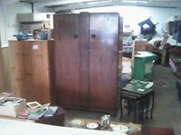quality, large, walnut wood, wardrobe