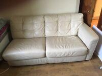 Leather corner unit/ sofabed