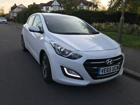 65 PLATE HYUNDAI i30 SE NAV BLUE DRIVE WHITE PETROL CAT D 10,000 MILES ON THE CLOCK NEW CONDITION