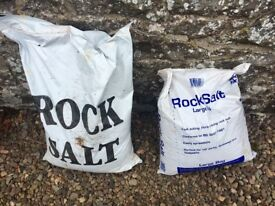 2 Bags of Rock Salt - 25kg bags