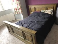Queen Size Solid Oak Bed, £400.