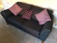 Three seater sofa, double chair & footstool