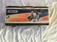 NEW Draper 880w Biscuit Jointer Cutting Depth 20mm Angle Adjustment 45 deg to 135 deg