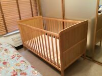 Cot bed with mattress for sale