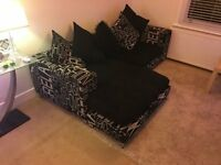 NEW BLACK DFS CORNER SOFA CAN DELIVER FREE