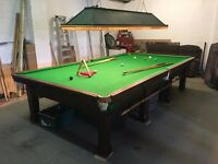 Full size slate bed snooker table