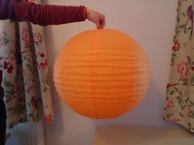 Orange Paper Lanterns x 9 - ideal for Weddings or other Parties