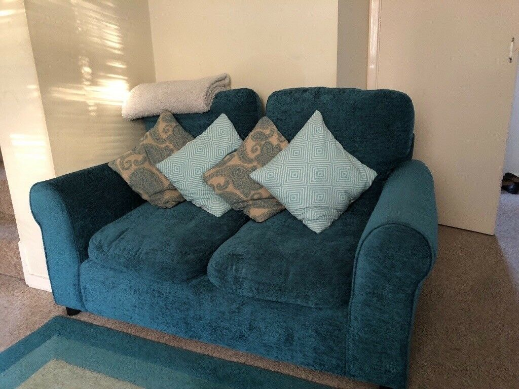 Comfortable Teal Two Seater Tabitha Sofa From Argos At Give Away Price
