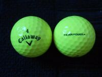 Callaway CRX ( Yellow) Golf Balls x 50. Pearl Condition