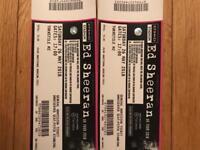 2x Ed Sheeran tickets