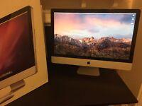 """iMac 27"""" quad-core 2.8GHz, 1TB hard drive, 120GB SSD, 8GB RAM"""