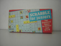 Scrabble for juniors. For ages 6 - 10. Help your child/children learn to spell.