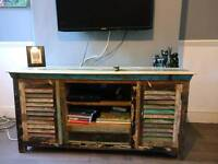 Handmade Upcycled 1 drawer 2 door TV unit / sideboard
