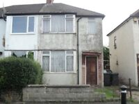 Freehold 2 Bedroom Semi Detached House in need of modernising throughout .
