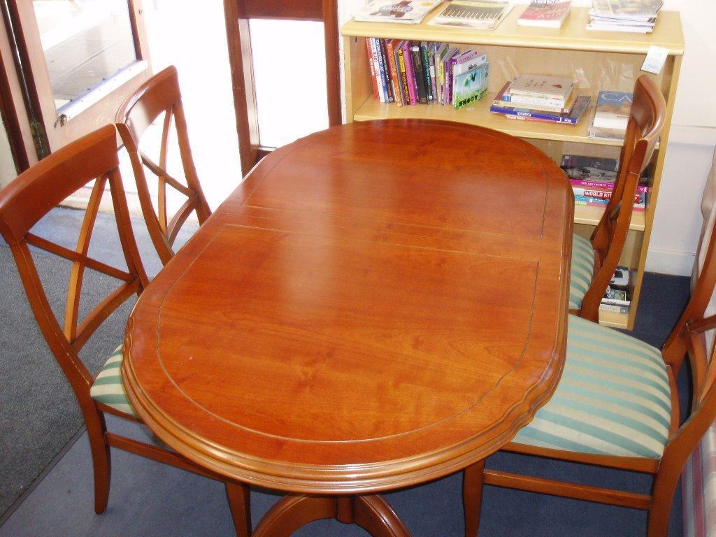 wooden dining table 4 chairs in west end glasgow gumtree