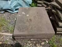 """Reclaimed 2ft x 2ft 6"""" paving slabs"""