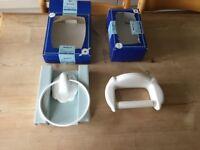 Cloakroom fittings - white ceramic
