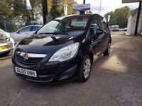 Vauxhall Meriva 1.4 i 16v Exclusiv 5dr (a/c) MPV 2011 WARRANTY, CARD PAYMENTS, CAR4YOU DRIVE AWAY