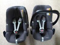 Maxi Cosi pebble plus car seats