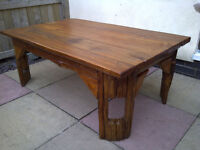"Solid Teak Coffee Table 52""x 32""x 20"""