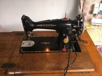 Vintage singer sewing machine, converted to electric, fully working condition
