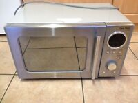 Silver Daewoo KOR3000DSL 20L 800W 13KG Stainless Steel Countertop Microwave Oven