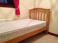 SOLD Single Bed with Pocket Sprung Mattress
