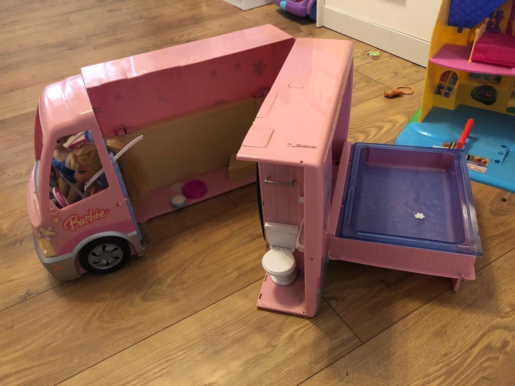 Dolls house and barbie camper van