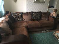 Brown corner sofa, good condition